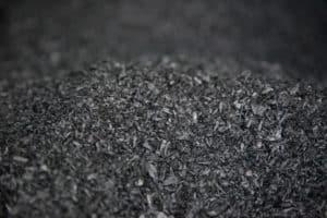 pile of biochar
