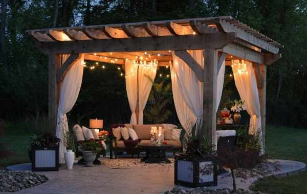 gazebo in backyard
