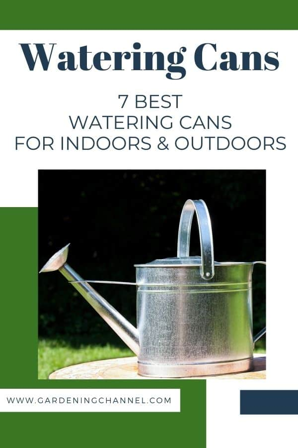 galvanized metal watering can with text overlay watering cans 7 best watering cans for indoors and outdoors