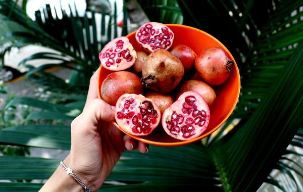 pomegranate fruit (Punica granatum)