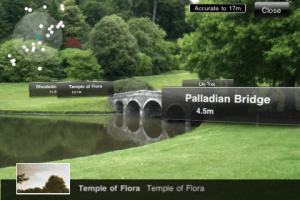 Augmented view of Stourhead. Credit National Trust