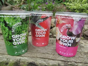 Grow Your Own seed pots from Suttons