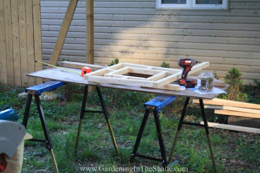 Fretwork Garden Fence Assembly