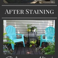 Loving my Black Stained Deck!