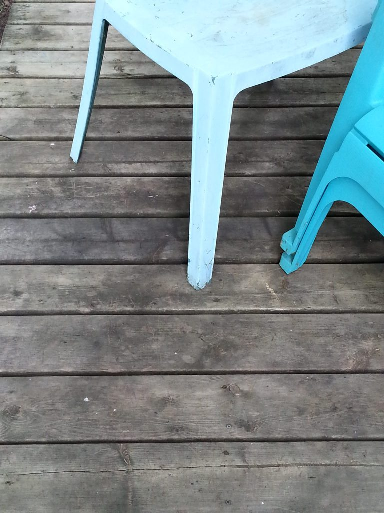 Deck after scrubbing