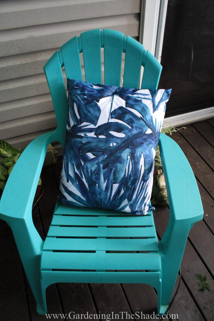 Outdoor Chair Cushion on Chair