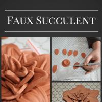 Terracotta Faux Succulent
