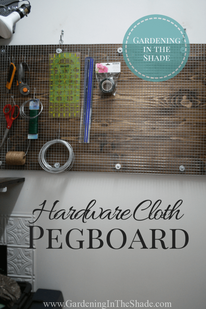 Make this unique industrial style pegboard!