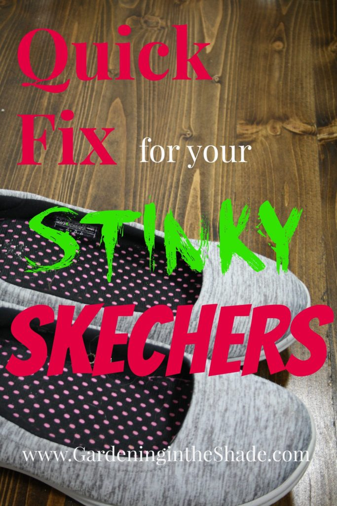 Here's a quick little project to fix smelly Skechers.