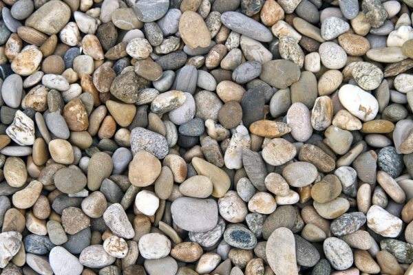 river rock mulch landscape ideas
