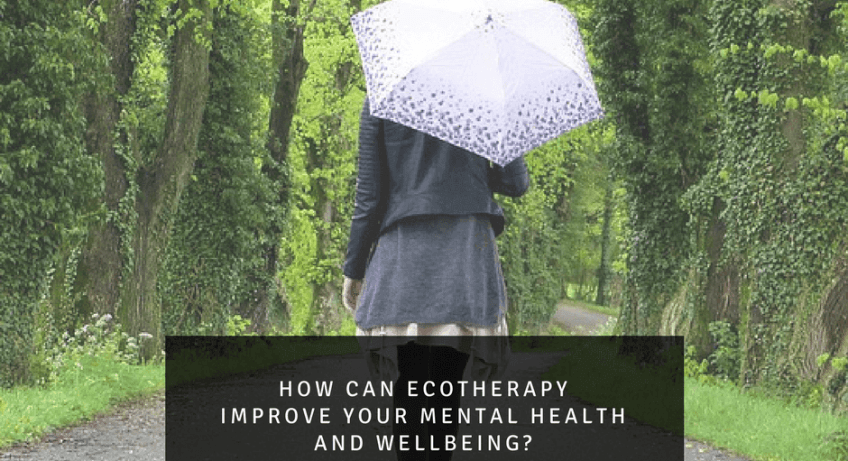 Taking a walk outdoors benefiting from ecotherepy . Ecotherepy improves mental health.