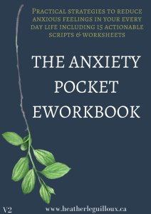 The anxiety pocket eworkbook #affiliatelink
