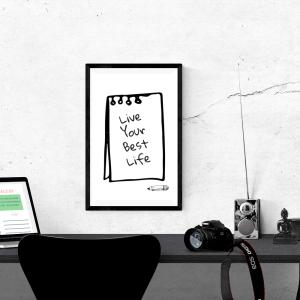 Live your best live digital download. Printable words art affirmation. #printable #digitaldownload #homedecor #diy #product