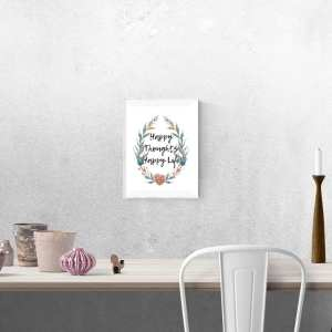 Happy thoughts digital download. Printable word art. #digitaldownload #printable #wordart #home #decoration #diy #artprint #gift #affirmation #decorativewordart
