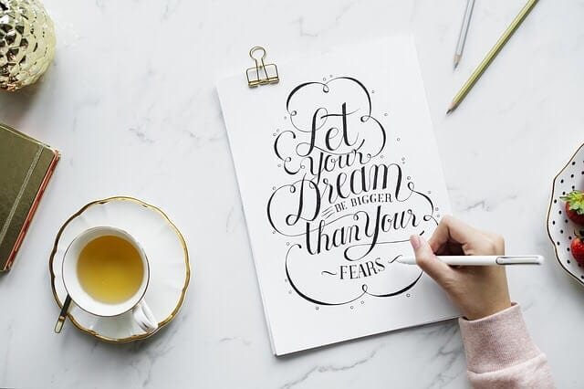 Let your dream be bigger than your fears. How to get motivated and get stuff done. #motivation #procrastination #organising #planning