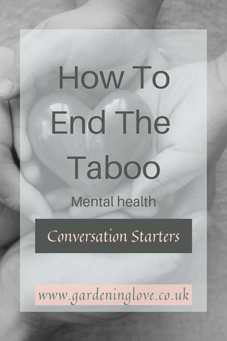 Mental health conversation starter ideas to help end the stigma of mental health. #talk #itsoktotalk #mentalhealth #mentalhealthawareness #supportformentalhealth #stigma #taboo