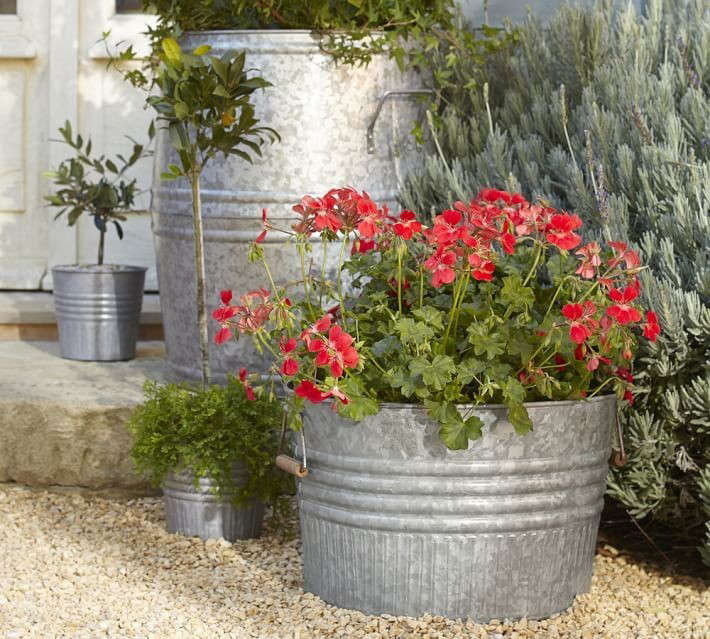 10 Easy Pieces Zinc Barrel Planters Gardenista