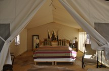 Safari-style Camping In Colorado Glam Bedding Included