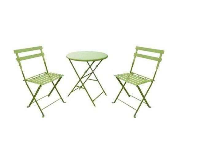 red metal chairs target fire pit table and 10 easy pieces: outdoor bistro chair sets: gardenista
