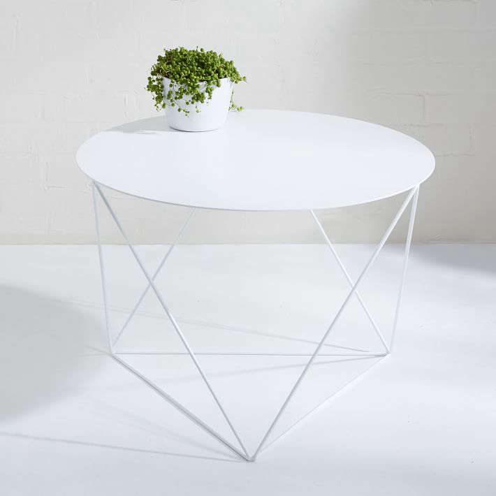 10 easy pieces white side tables for