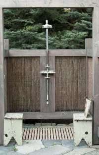 Private Idaho: A Rustic Outdoor Shower in Sun Valley ...