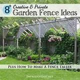 Garden Fence Ideas Image Library