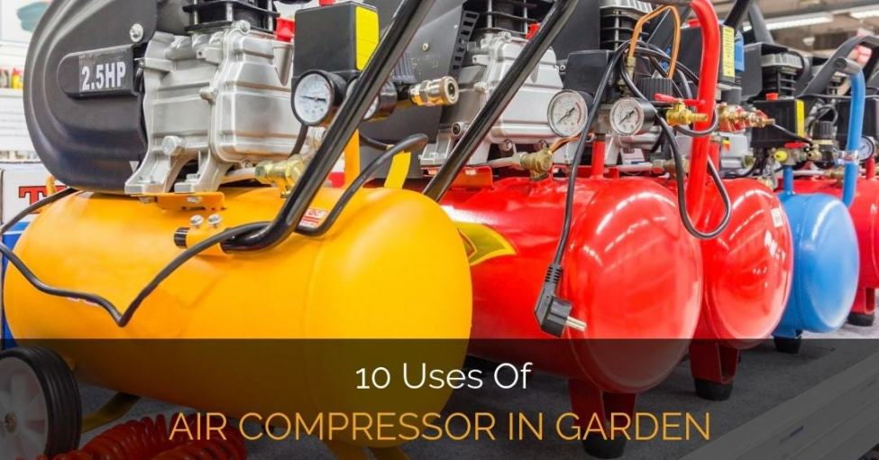air compressor in garden