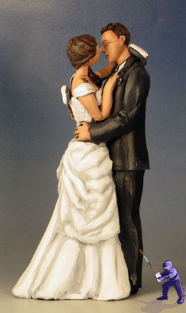 Kissing Gamers Unique Custom Wedding Cake Toppers Garden