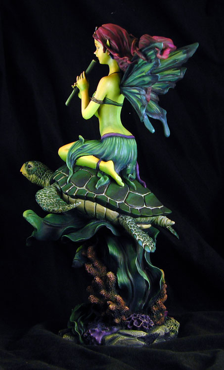 Fairy Riding a Turtle  Garden Ninja Studios