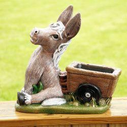 Garden Donkey Cart Planters Gardening Flower And Vegetables