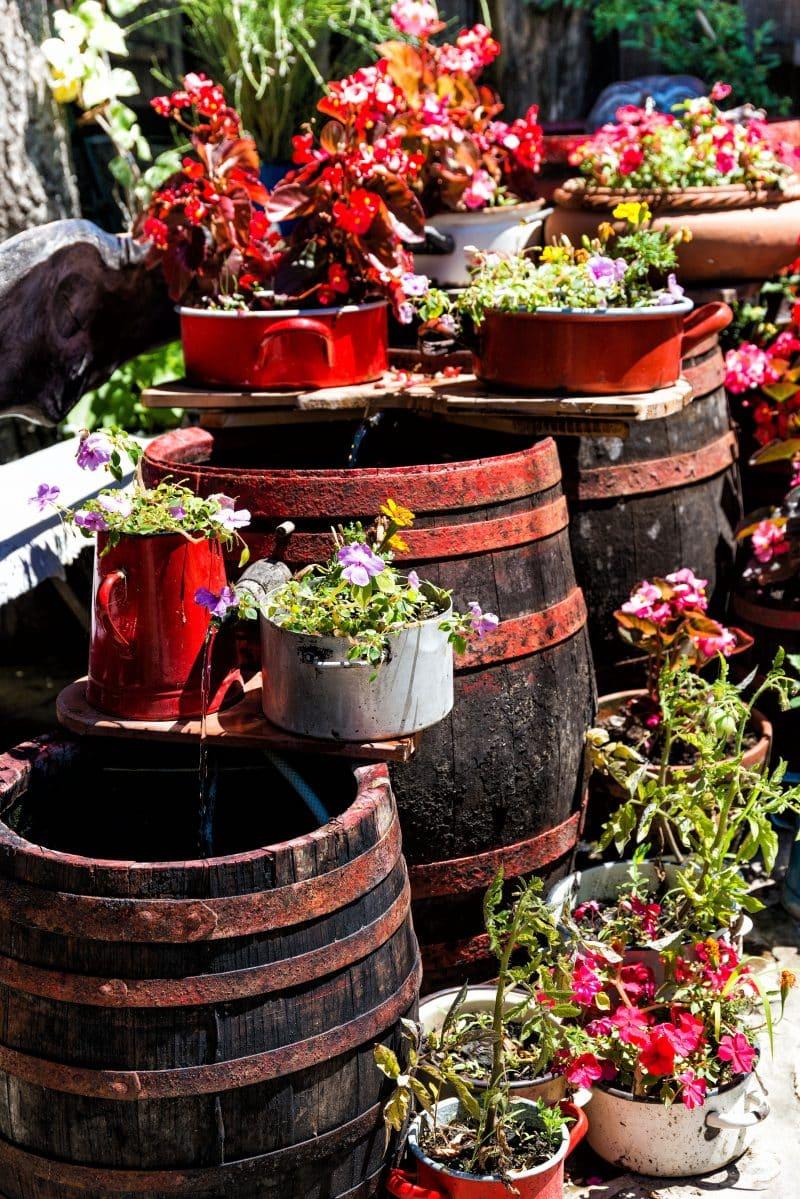 Tin Plant Pots