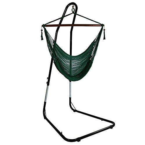 hammock chair c stand office ikea uk top 25 best stands 2018 sunnydaze green hanging caribbean xl with adjustable
