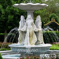 Outdoor garden decor tiered antique marble water fountain ...