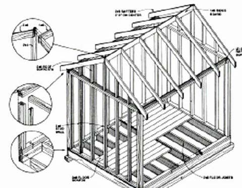 Woodwork Backyard Storage Building Plans PDF Plans