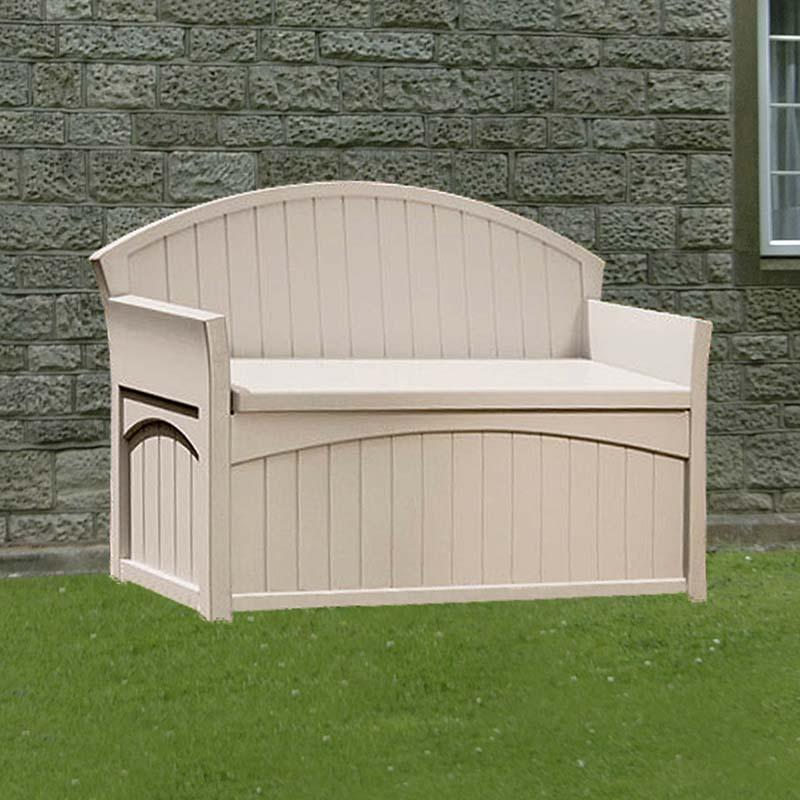 4 5 x 1 9 suncast resin patio storage bench plastic garden storage