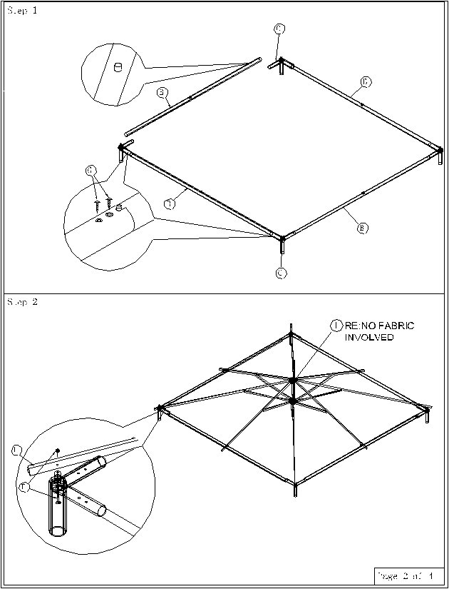 Gazebos: Gazebo Instructions