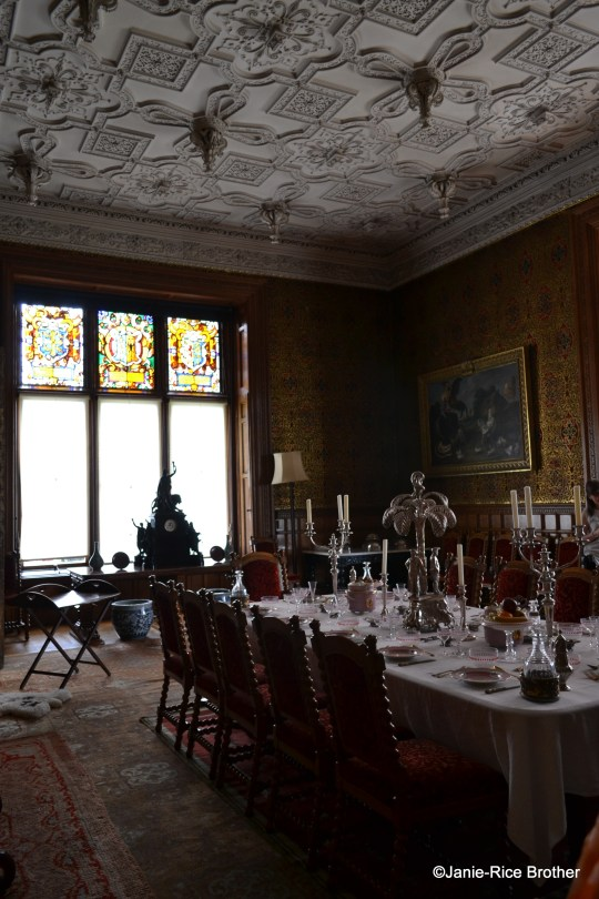 The dining room in the National Trust side of the house.
