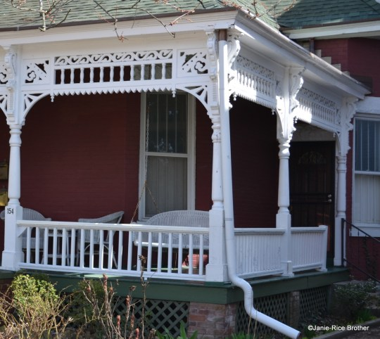 A charming porch with period detail? In the 1930s, it was old-fashioned, out of style, and hideous.