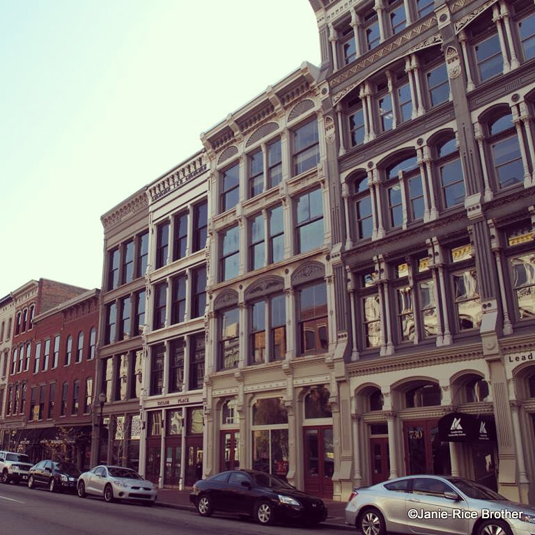 Streetscape in downtown Louisville, Kentucky, otherwise known as the center of Derby frenzy,