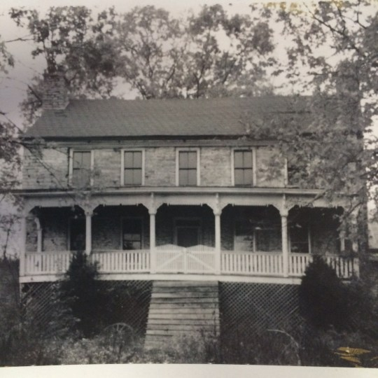 The Ellis Tavern in 1976. (Image from the National Register of Historic Places files)