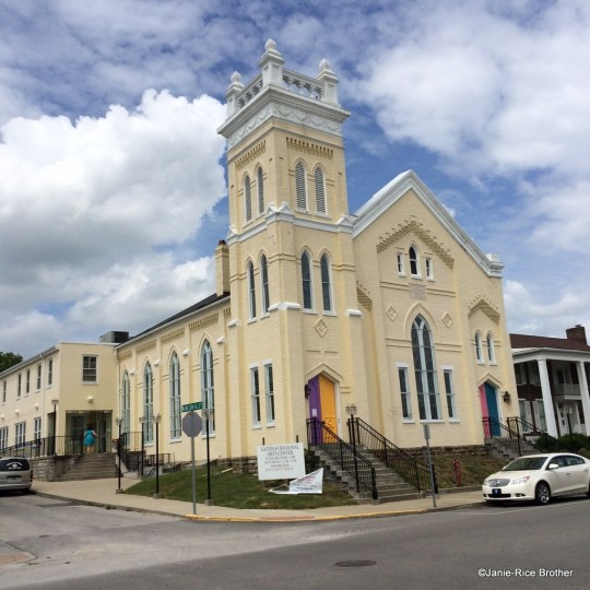Built circa 1883, the former Methodist Episcopal Church South became the Gateway Regional Arts Center, an amazing community effort and admirable adaptive reuse project.