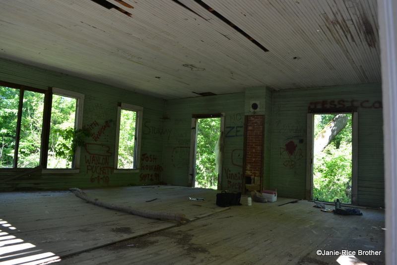 Interior of the Frenchman's Knob School, Hart County, Kentucky.