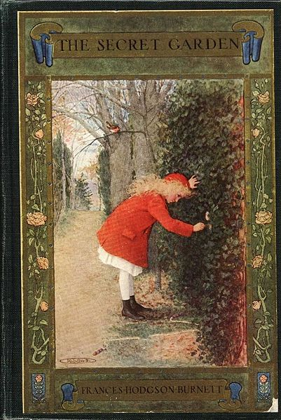 The 1911 cover of A Secret Garden – I don't think Mary looks at all disagreeable in this version. Photo from http://commons.wikimedia.org/wiki/File:The_Secret_Garden_book_cover_-_Project_Gutenberg_eText_17396.jpg