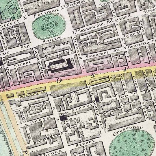 Circa 1830 map of Portman Square http://en.wikipedia.org/wiki/Portman_Estate#mediaviewer/File:PortmanSquare.jpg