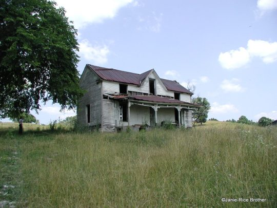 Vernacular Gothic Revival house, Bath County, Kentucky.