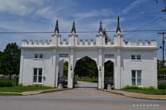 The 1847 Paris Cemetery Gatehouse, Paris, Bourbon County, Kentucky.