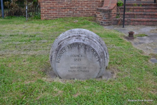 Marker in front of Literary Hall.