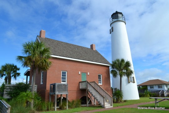 The rear elevation of the reconstructed Keeper's House and Lighthouse.