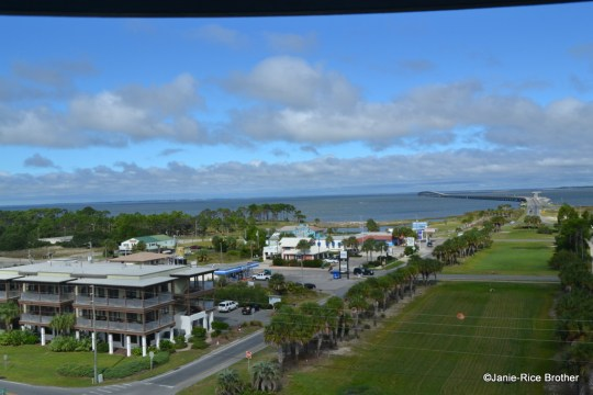 The view from the top of the St. George Lighthouse.