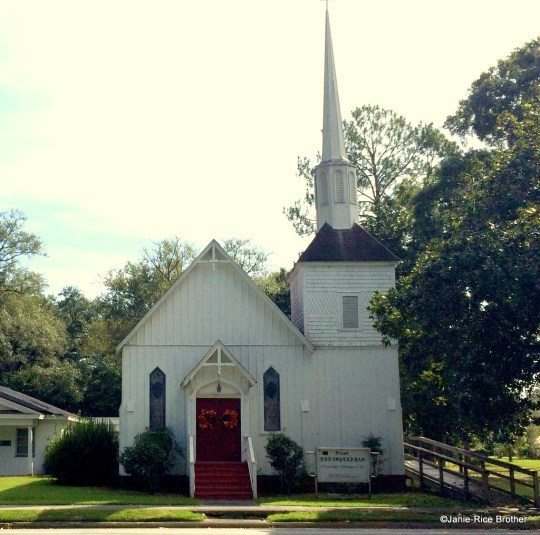 The board and batten church that caught my attention.
